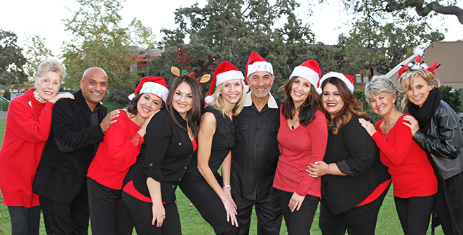 dentist staff in holiday spirit thousand oaks
